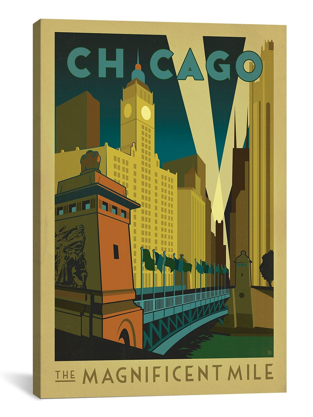 The Magnificent Mile - Chicago, Illinois ll Canvas Print by ...