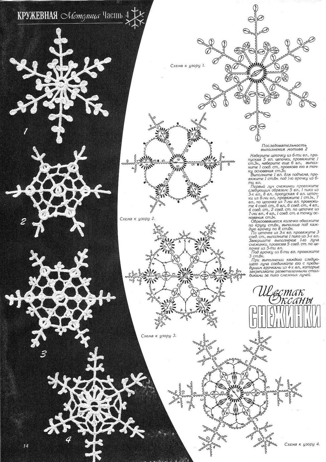 Esquemas de copos de nieve | SexyCrochet.COM | Esferas, snowflakes ...