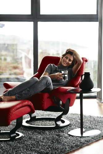 Full Of Spirit Ekornes Stressless Recliner With Ottoman Modern