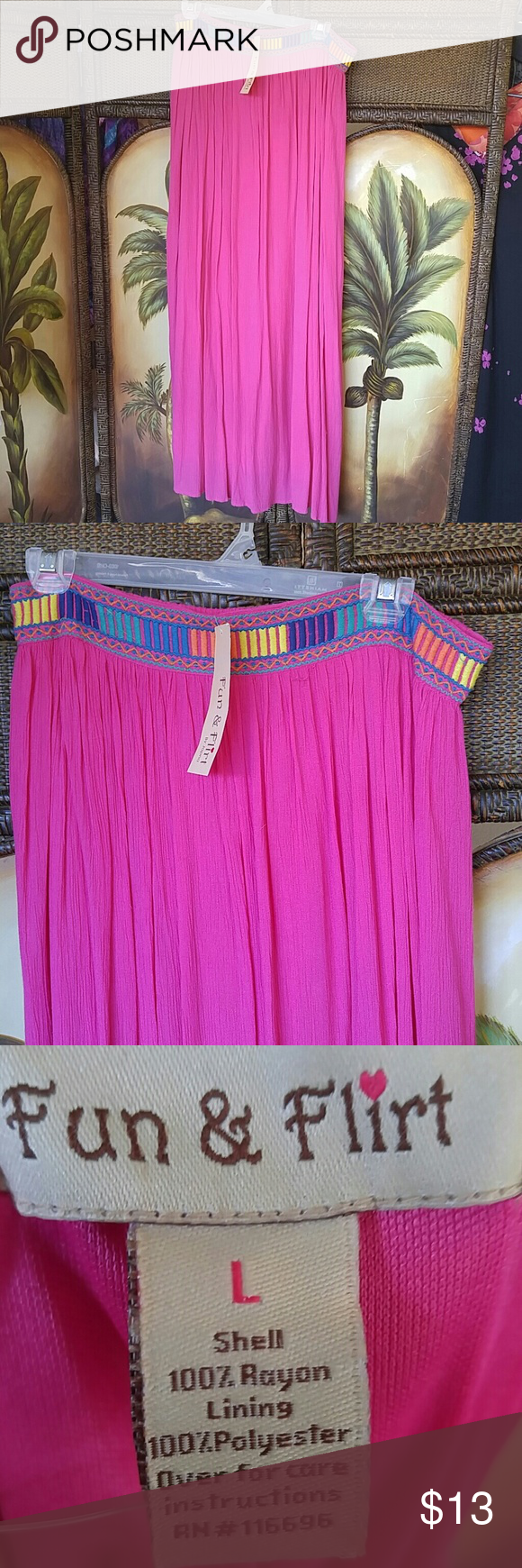 Lined flirty skirt nwt Nwt Mid calf Peasant style Lined fun&flirt Skirts A-Line or Full