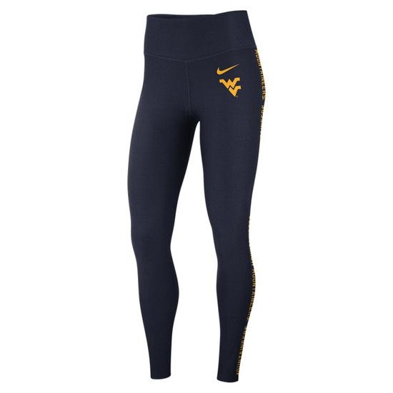 8212fc3b6216a Enjoy a nice long run while staying dry the entire time. With the Nike WVU  Women's Running Tights, you can run for hours without sweat irritating your  skin.