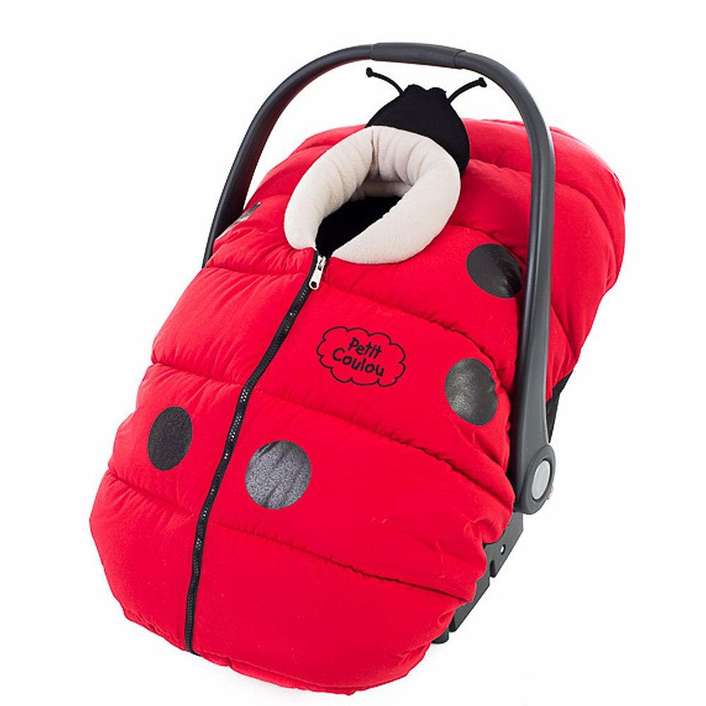 Petit Coulou Car Seat Cover Coccinou Red And Black