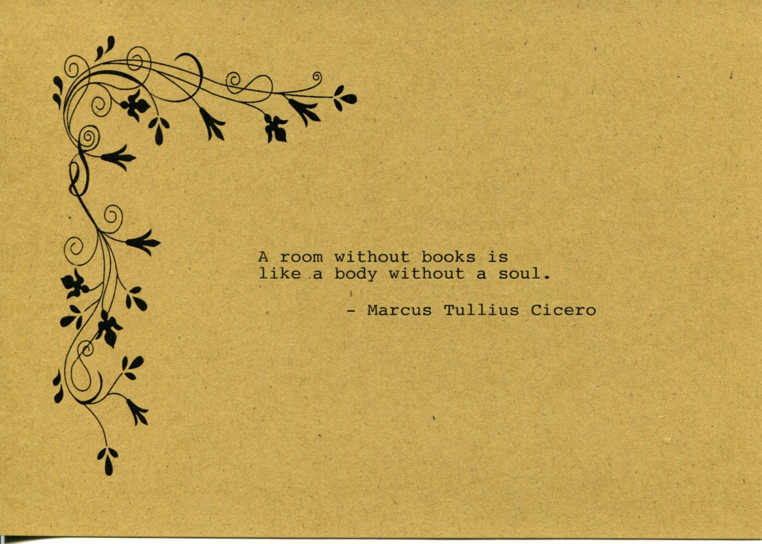 Marcus Tullius Cicero Quote Made on Typewriter Art Quote Wall Art ...