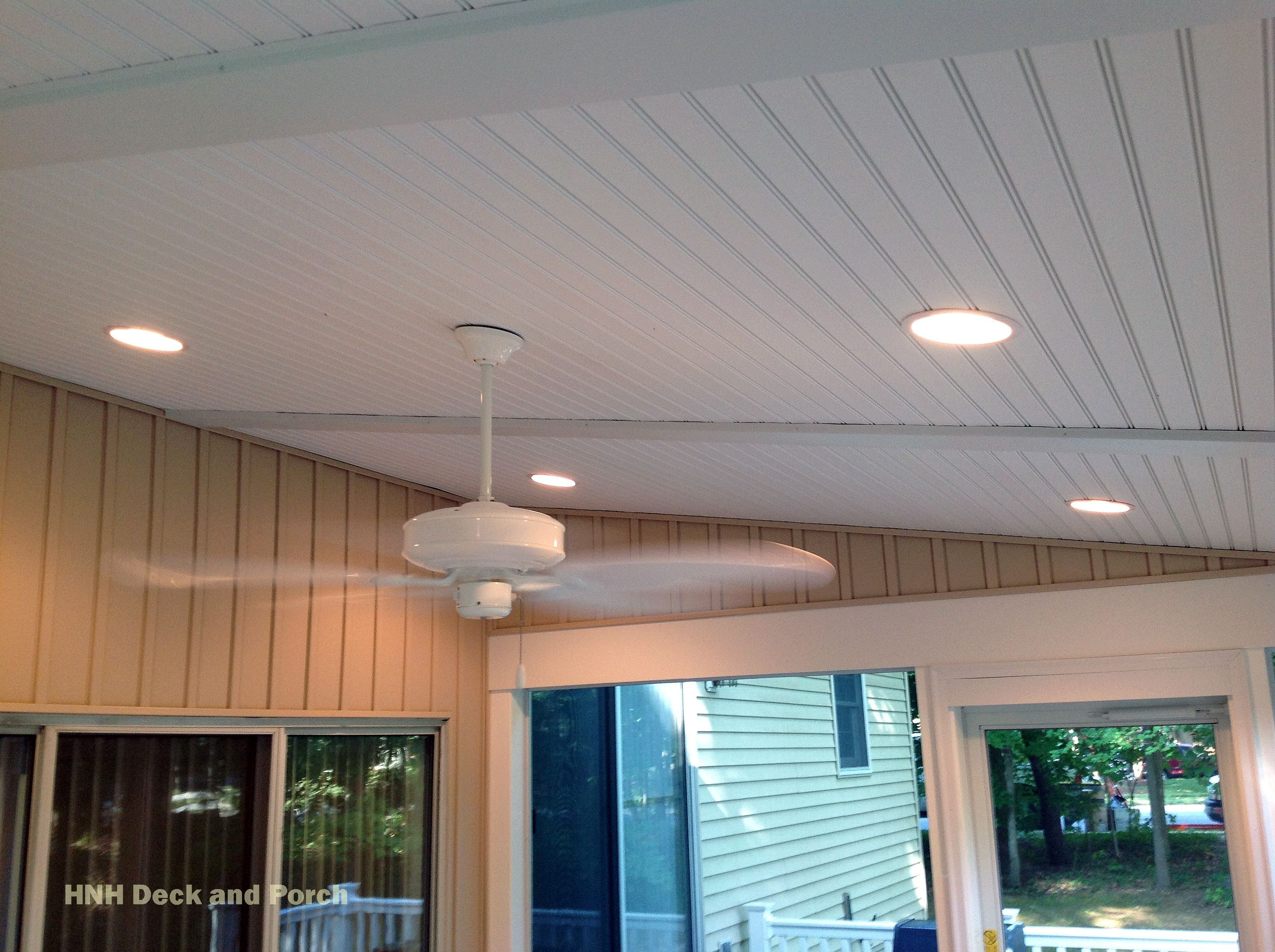 Screened In Porch With Recessed Lighting Porch Lighting
