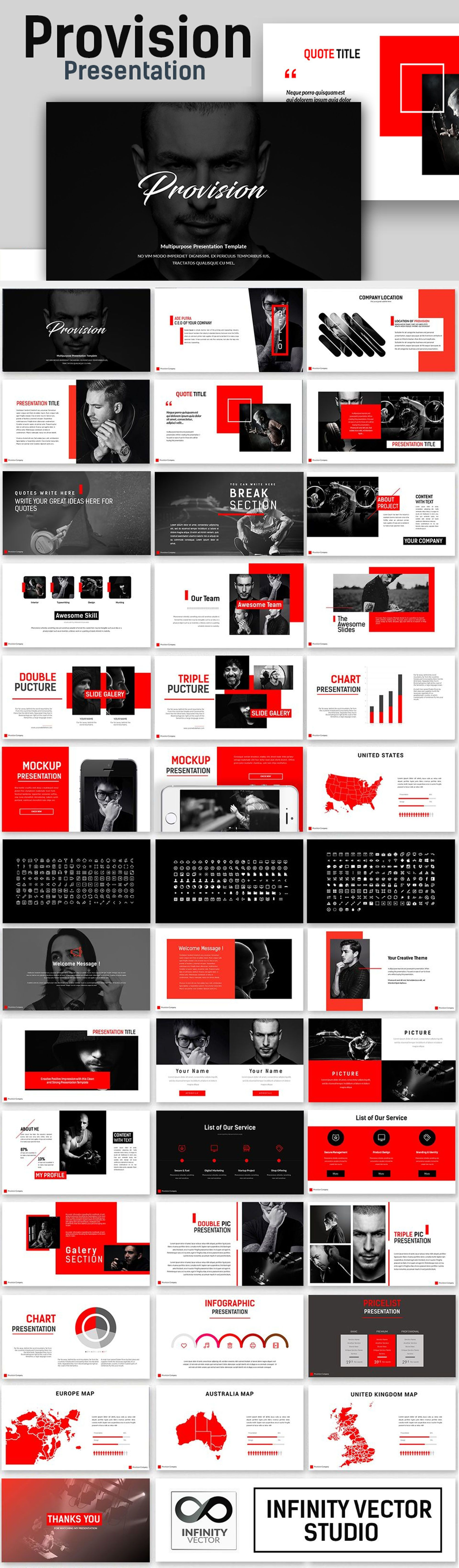 Provision Creative Presentation PowerPoint Template | Music