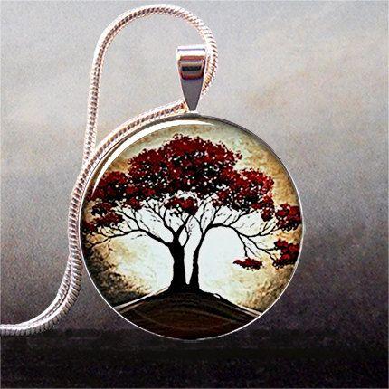 Moonlight and oak tree pendant charm resin pendant tree necklace moonlight and oak tree pendant charm resin pendant tree necklace charm tree jewelry aloadofball Gallery