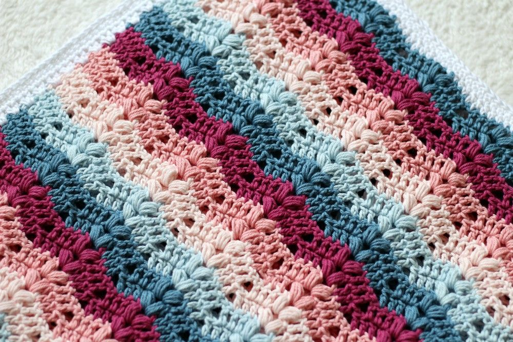 Free Crochet Blanket Pattern - Ruby Blanket | Yarn baby | Pinterest ...