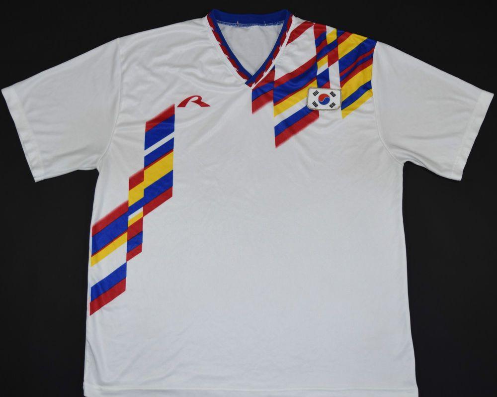 world cup brasil 2014 black tshirt m size 1994 1995 south korea rapido away football shirt (size xl)