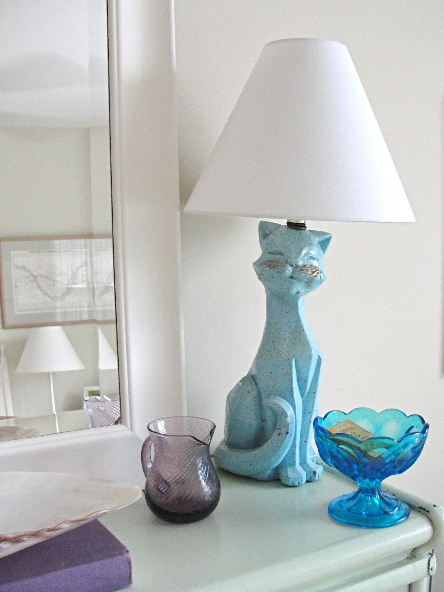 Vintage Cat Lamp