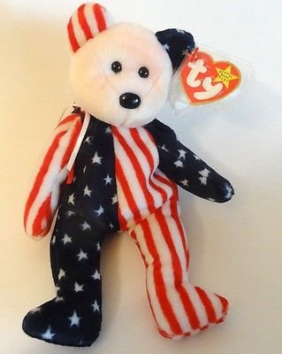 08ae07e0ed9 Ty Beanie Baby 1999 SPANGLE American Flag Patriotic Teddy Bear 4th of July  Pink.  9.99 FREE SHIPPING! LIKE SHARE PIN!