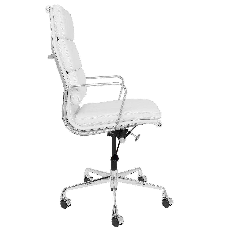 Soho premier tall back soft pad management chair white
