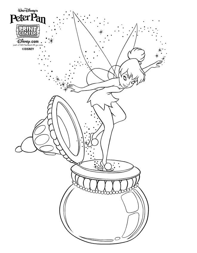 Fee Clochette Peter Pan Coloriage Coloriage Disney