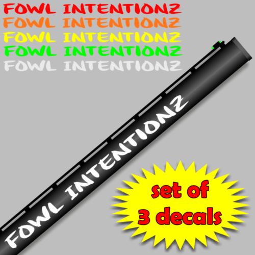 FOWLINTENTIONZVinylgunbarreldecalxsetof - Custom shotgun barrel stickers