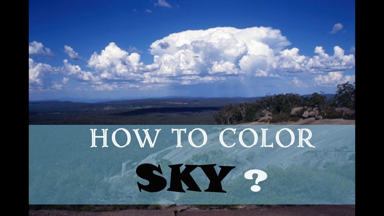 How To Color Sky In The Coloring Books For Adults
