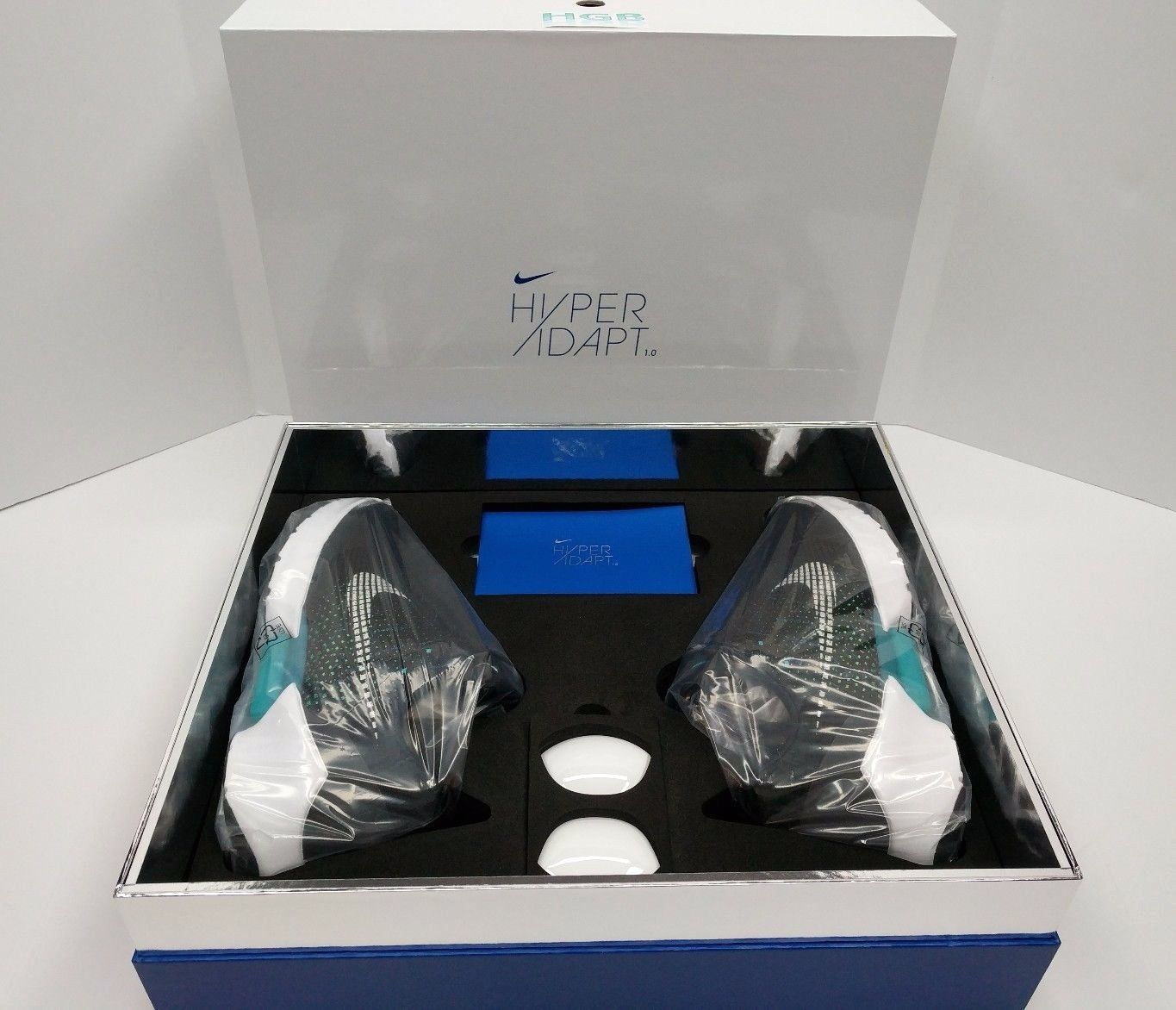 Nike HyperAdapt 1.0 Black Blue 843871 001 Self Lacing 1st Release Box Rare  NIB