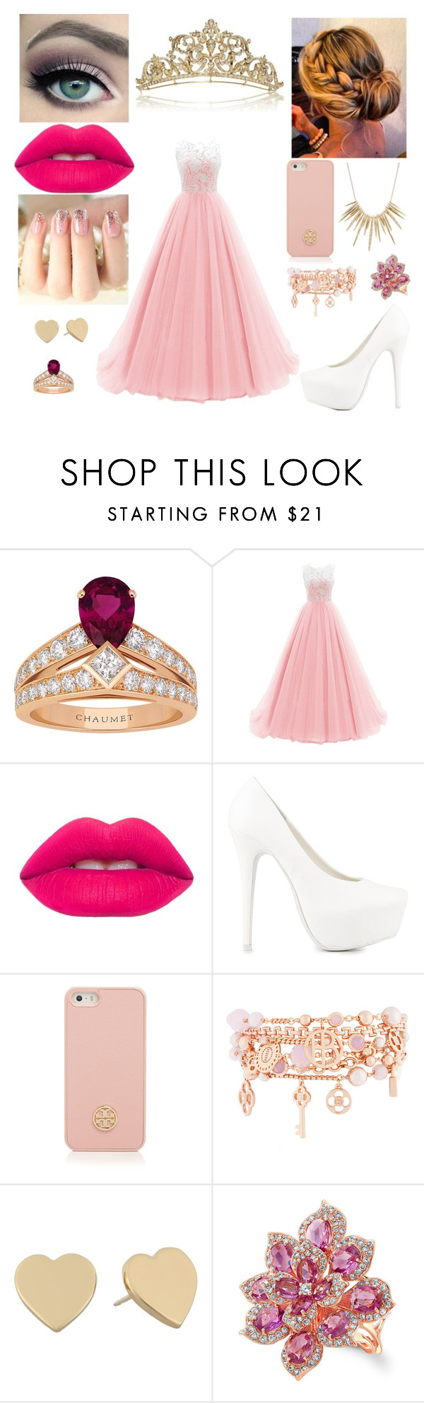 """""""Untitled #309"""" by cah-princess ❤ liked on Polyvore featuring Chaumet, ncLA, Lime Crime, Nly Shoes, Tory Burch, Henri Bendel, Kate Spade and Alexis Bittar"""