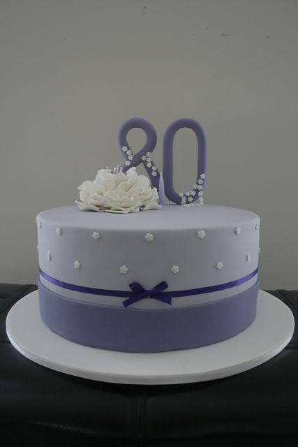 80th Birthday Cake By Cupcake750 Via Flickr