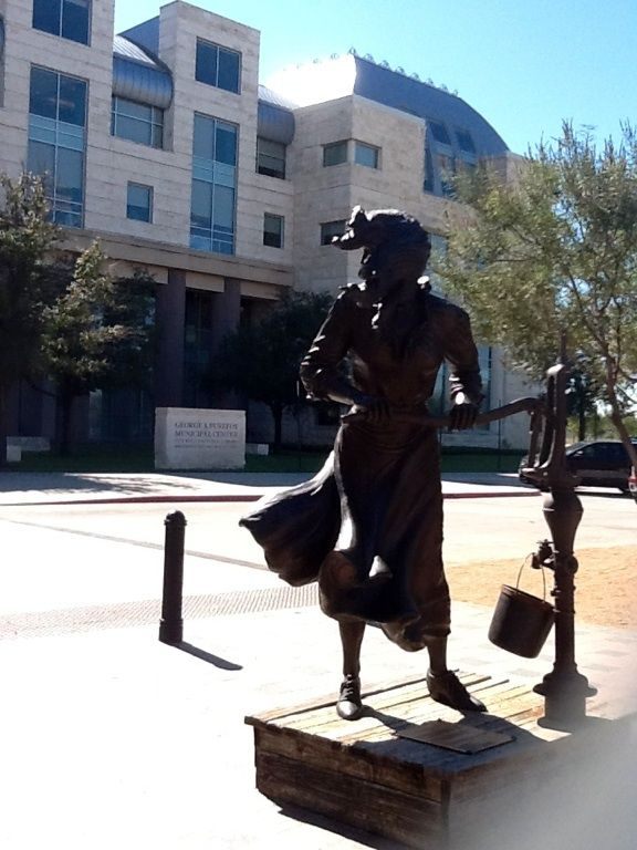 Statue in front of Frisco, Texas library | Texas | Frisco