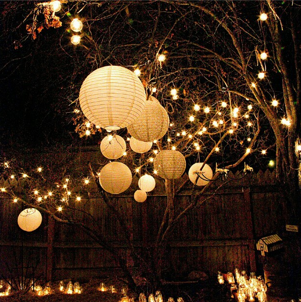 backyard lighting diy