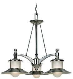 New England Collection Brushed Nickel Dinette Chandelier
