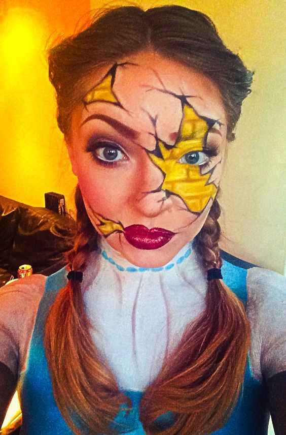 Wizard of Oz DIY Halloween Makeup Ideas for Women Cool Halloween - cute makeup ideas for halloween