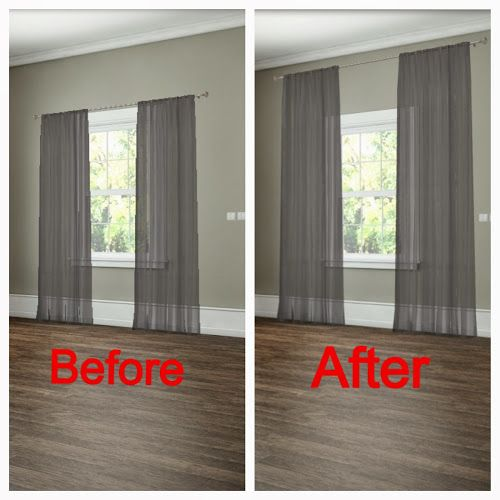 27 Easy Remodeling Ideas That Will Completely Transform Your Home (On A  Budget!) How To Hang Your Curtains To Give The Illusion Of Larger Windows.