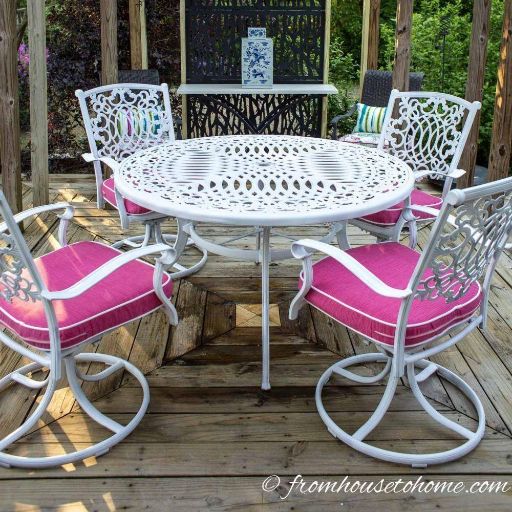 How To Paint Metal Patio Furniture in 9  Metal outdoor