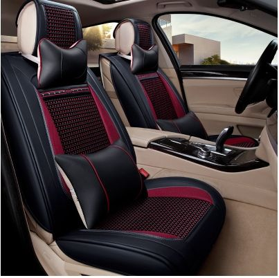 Black-Red Effect 3D Seat Covers for Toyota Prius Car Seat Cover Complete