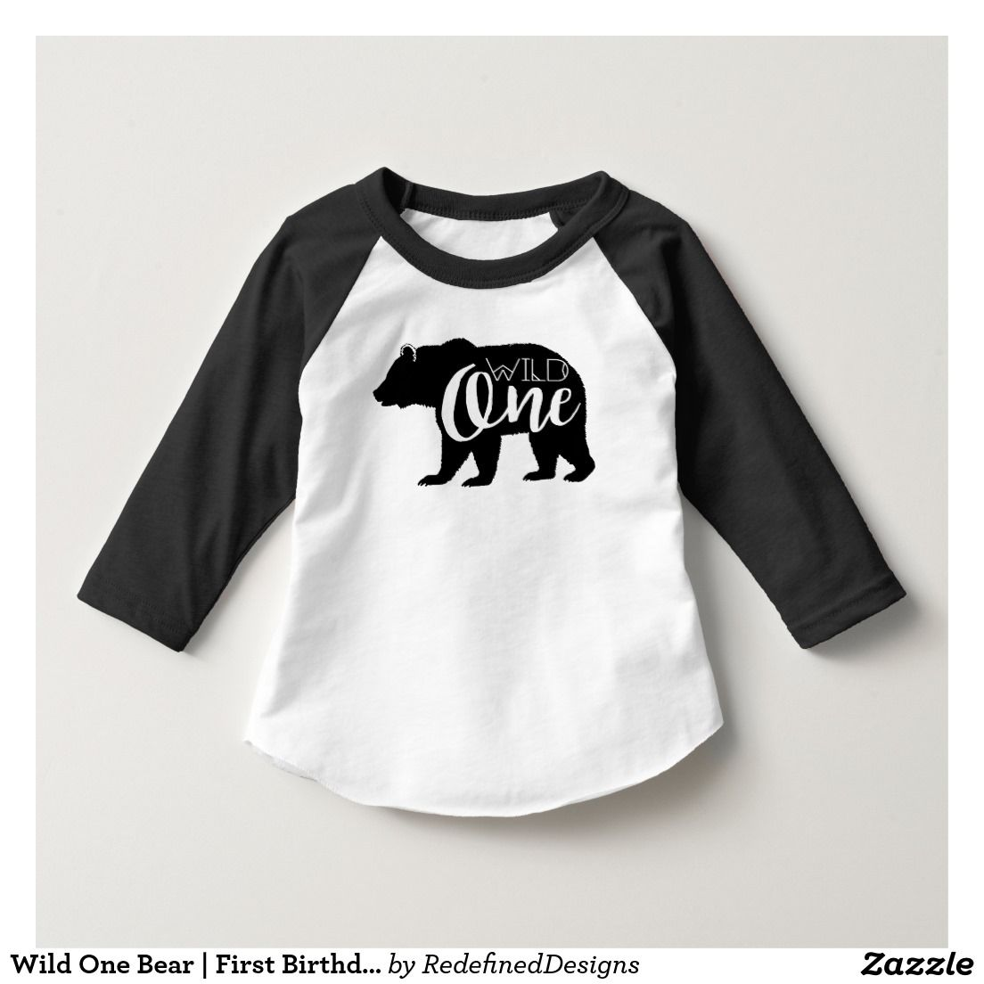 998986eb3f9f Wild One Bear | First Birthday Party T-Shirt | Zazzle.com ...