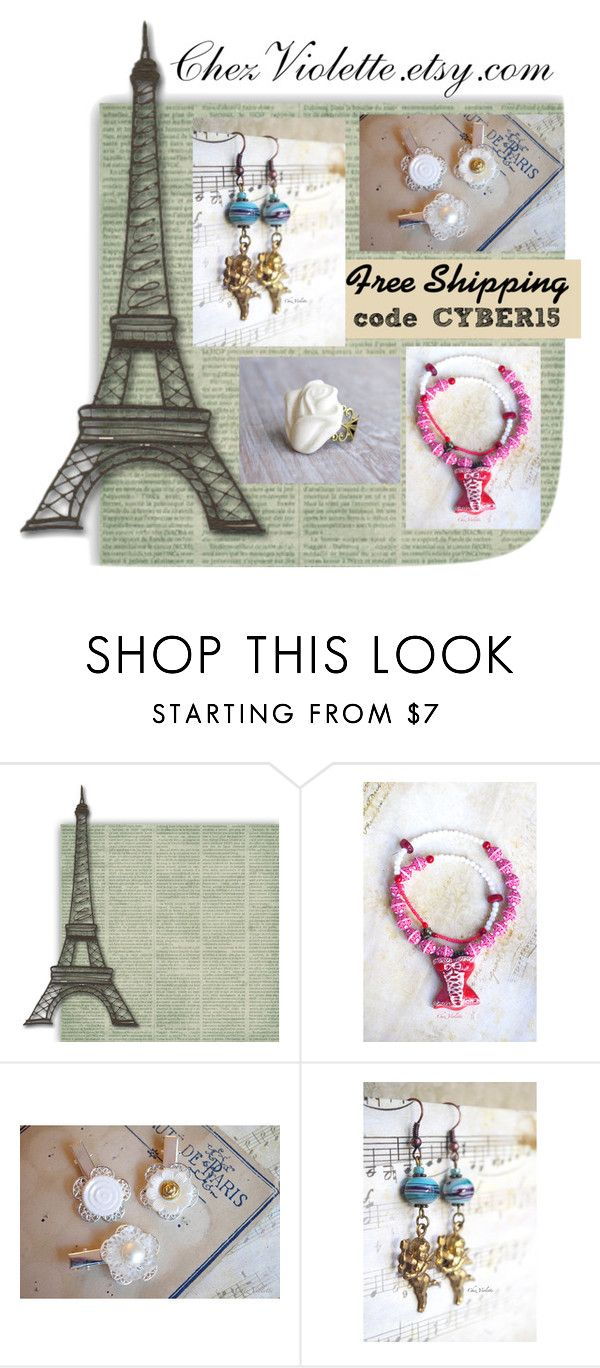 """Cyber Sale - ChezViolette.etsy.com"" by chez-violette ❤ liked on Polyvore featuring Retrò"
