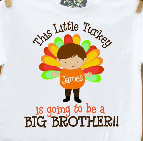 0018d423a thanksgiving big brother shirt this little turkey is by zoeysattic, $18.00