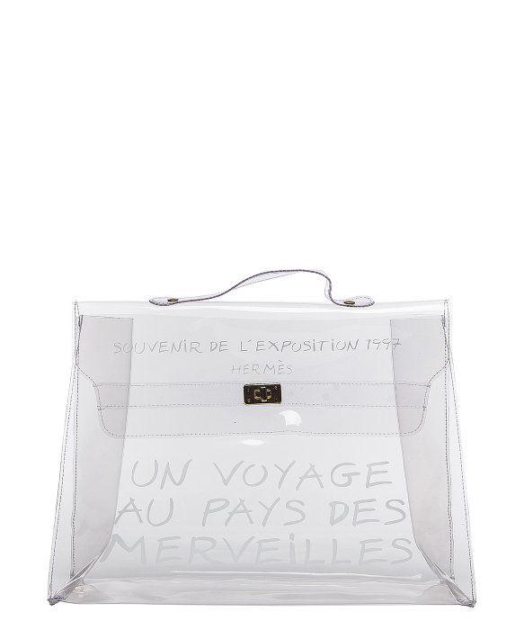 Hermes Pre Owned Hermes Clear Vinyl Souvenir D Kelly Bag Transparent Bag Clear Vinyl