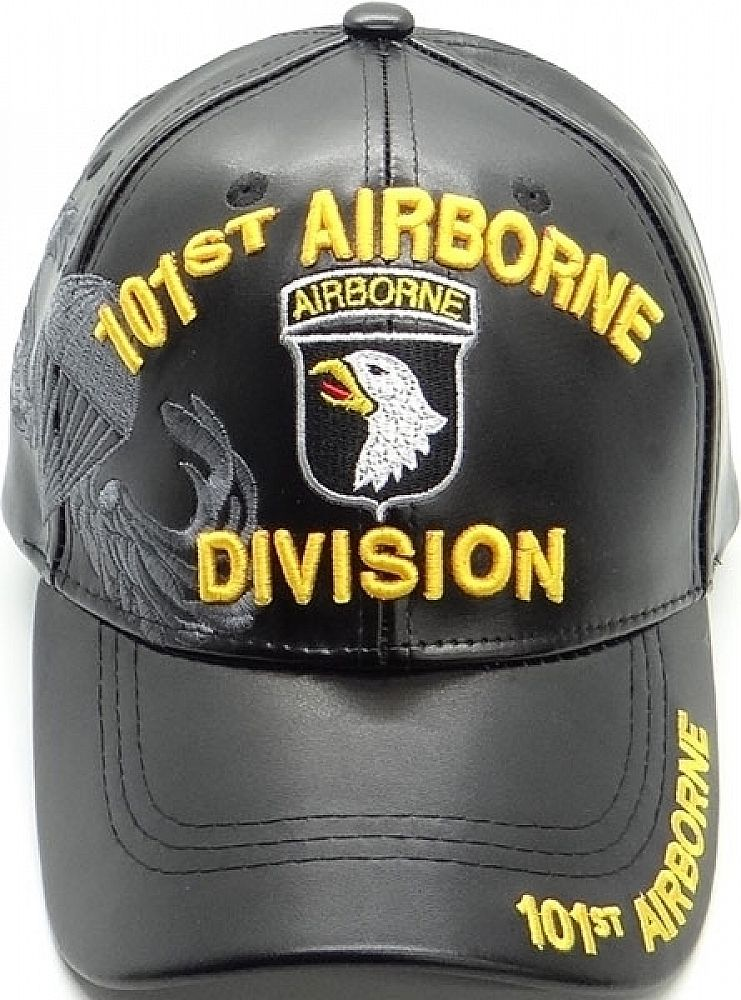MILITARY BALL CAP 101ST AIRBORNE ARMY HAT BLACK WITH SHADOW