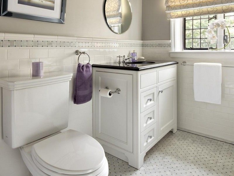 White Subway Tile Bathroom Floor Home Design Ideas Shower Surround Drop Tub  And Octagon Dot