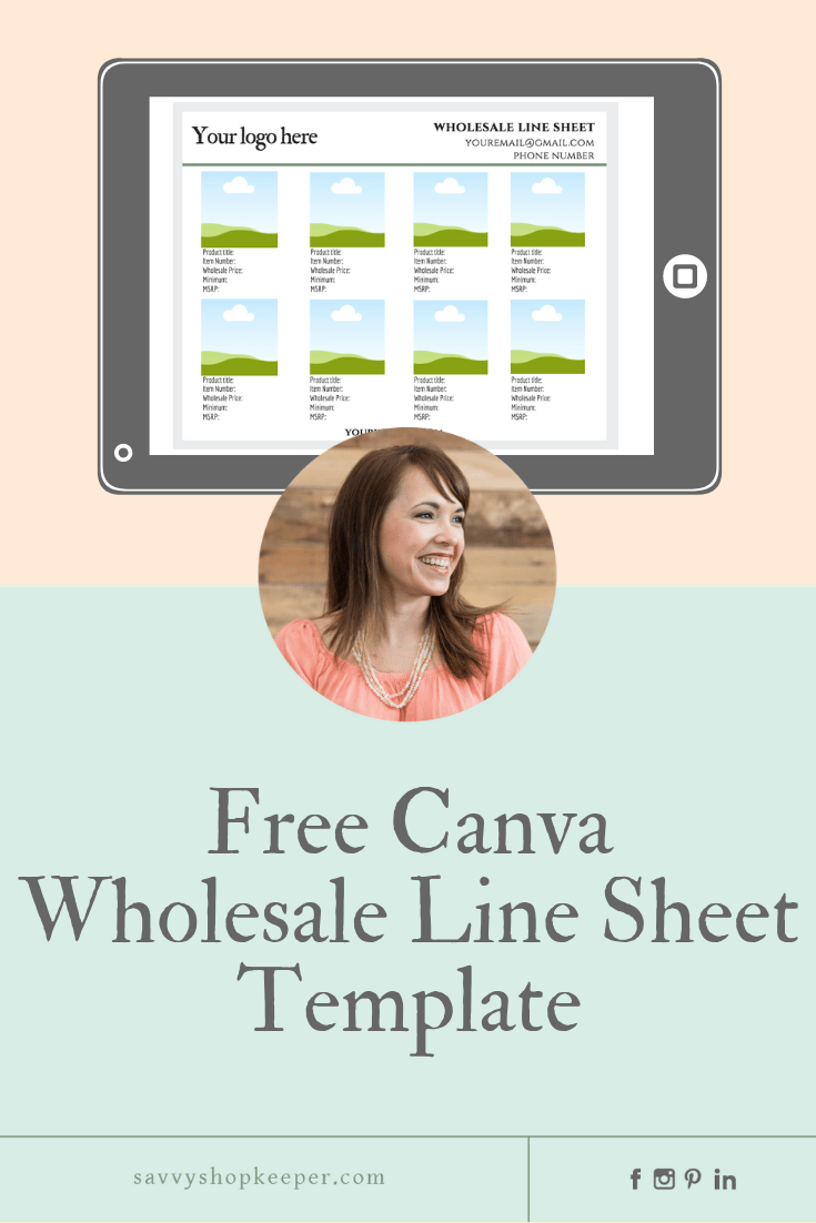 do i need a wholesale line sheet
