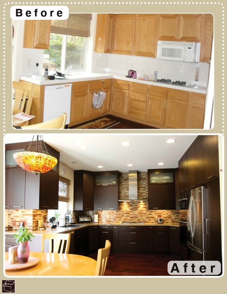 slab cabinet doors and stainless steel appliances ...