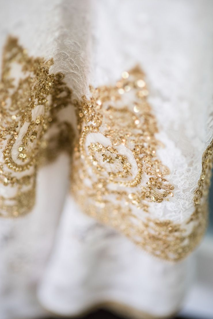 Gold custom made wedding gown | itakeyou.co.uk