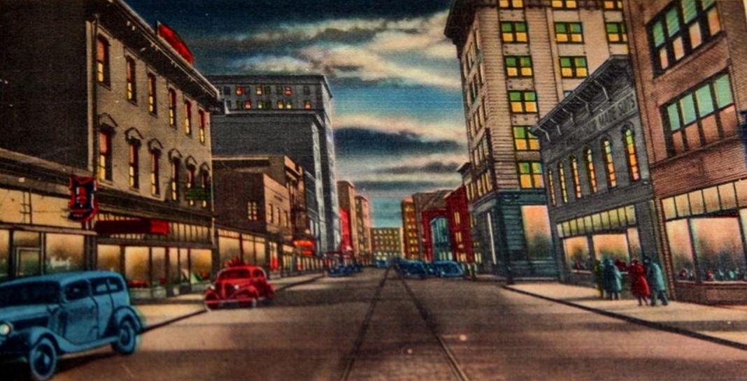 A Postcard Showing Jefferson Street Many Years Ago Jefferson Street Roanoke Star City
