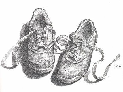 Contour Line Drawing Shoes Lesson Plan : Getting back to the phantom skill drawing course draw and