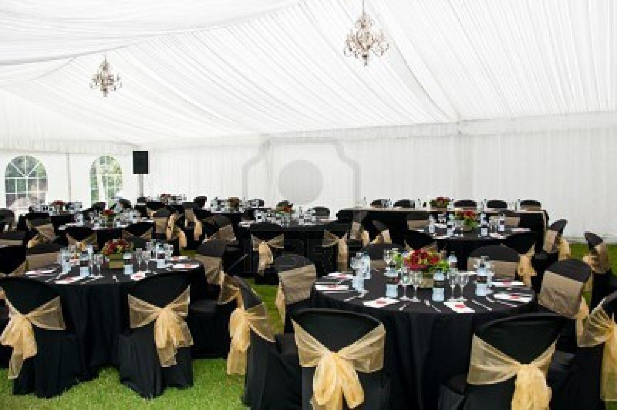 Image detail for -Wedding Marquee In Black And Gold Theme Royalty ...