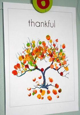 Preschool Crafts for Kids*: Fingerprint Fall Tree Craft