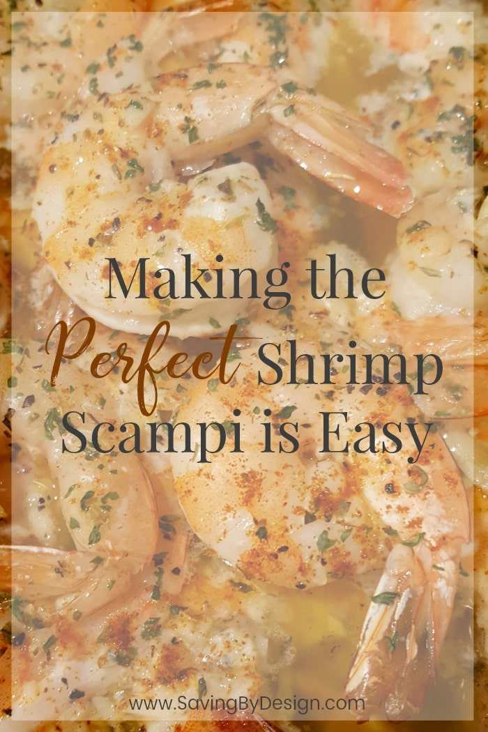 Baked shrimp scampi is a perfect seafood meal when you don't have a lot of time to cook. This baked shrimp recipe without wine is fast, easy, and delicious! #shrimpscampi