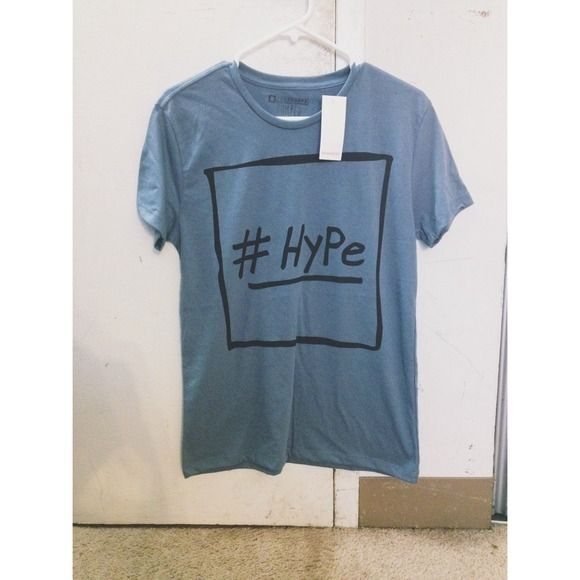 #HYPE blue gray tee