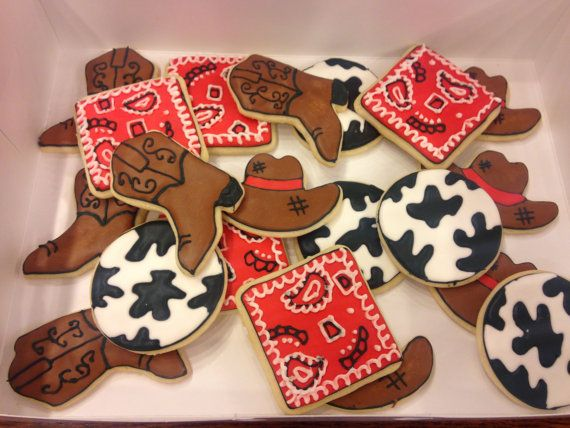 Western theme Decorated Cookies