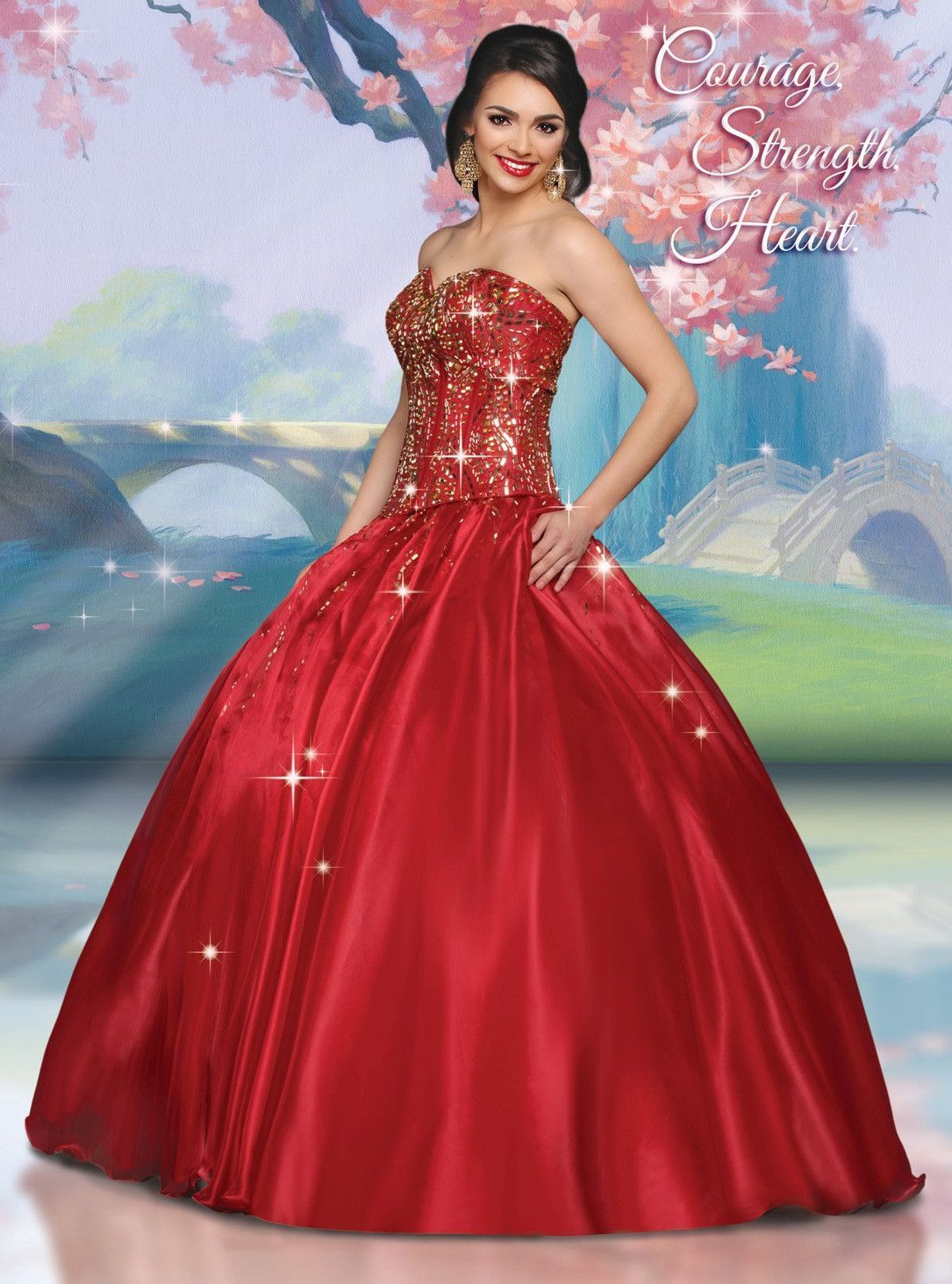 Disney Royal Ball Quinceanera Dress Mulan Style 41055 | Quinceanera ...