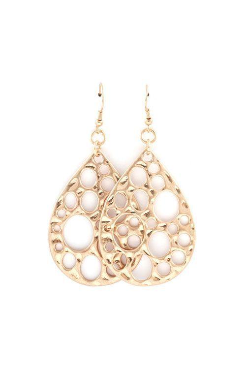Pretty Gold Drop Earrings.