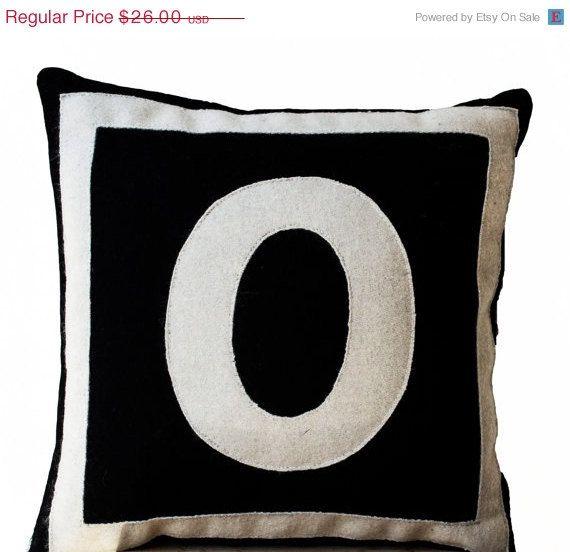 SALE Customized Monogram throw pillow Felt pillow by AmoreBeaute