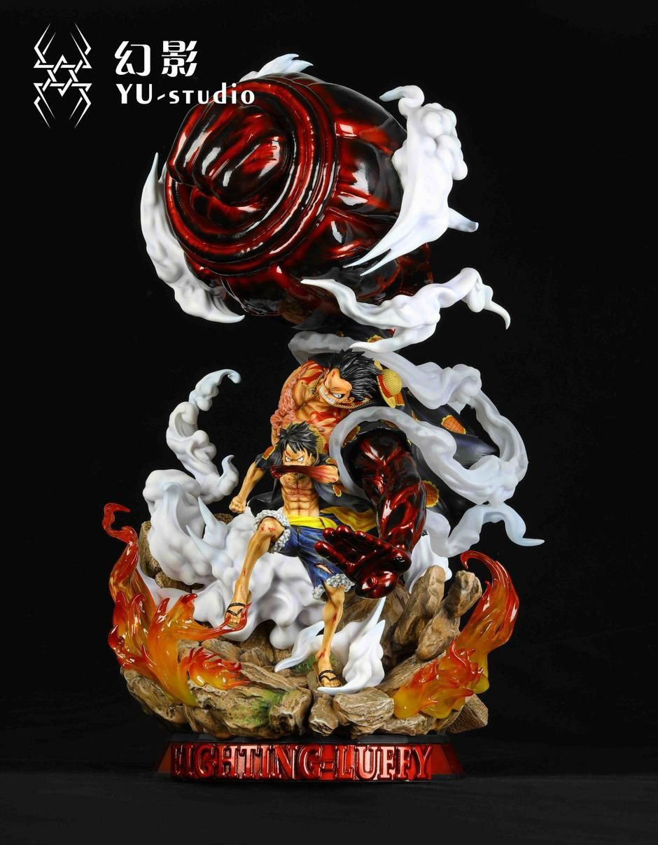 Yu Studio Fighting Luffy Resin Statue Collectible One