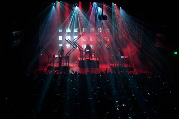 The Glitch Mob performs at the Regency Ballroom in San Francisco. Photography by Michael Kohr