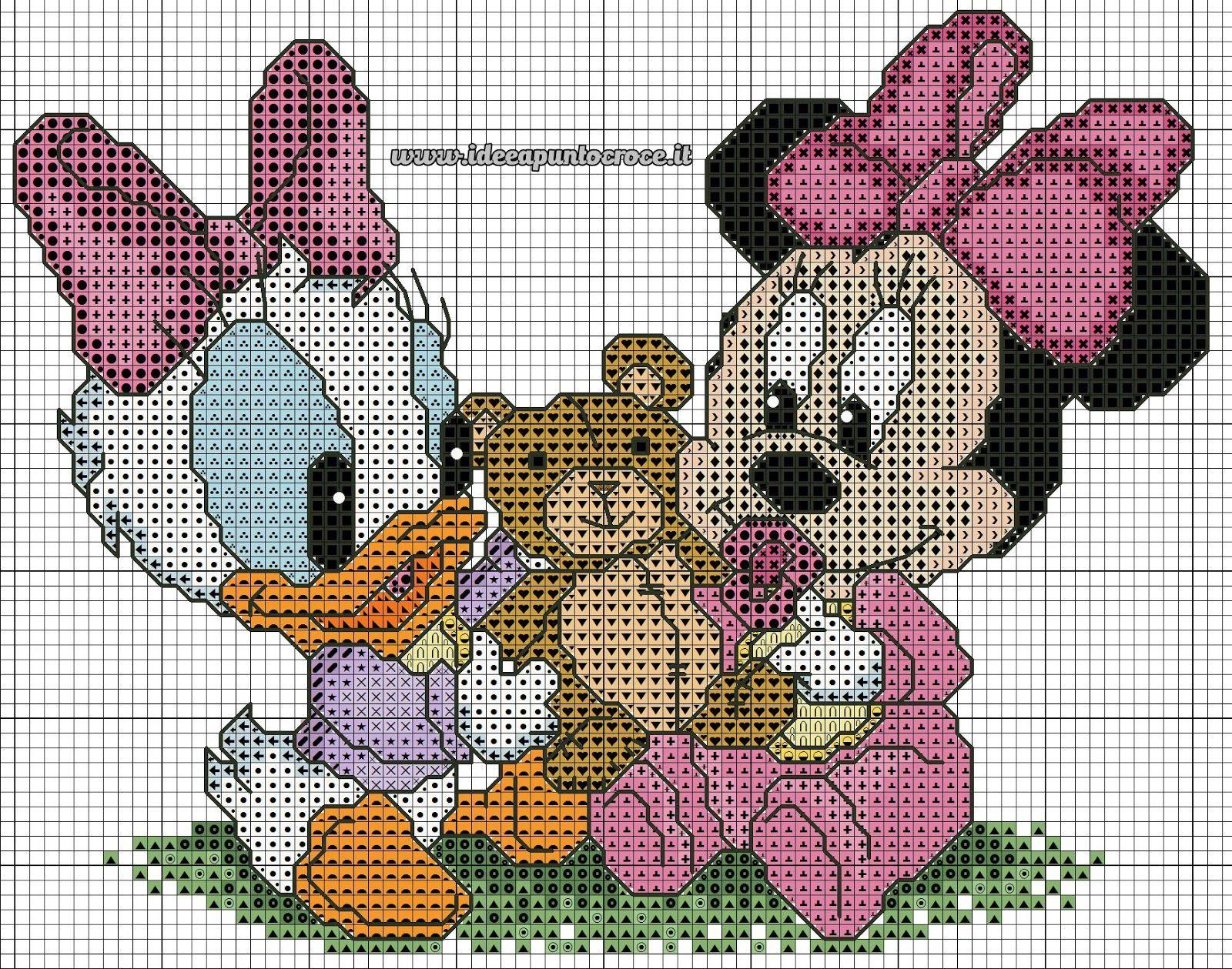 Schemi Disney A Punto Croce Mickey Mouse Pinterest Punto De